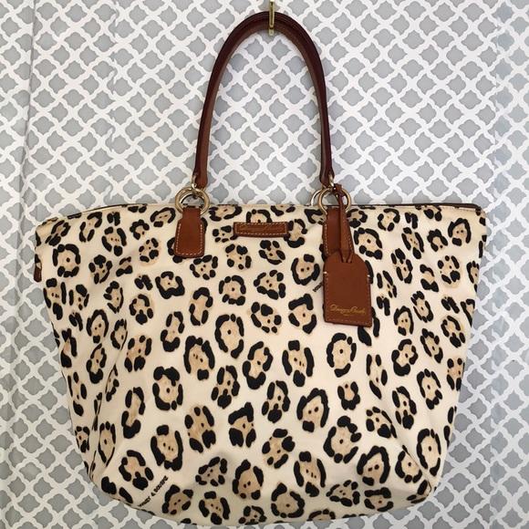 Dooney & Bourke Handbags - D&B cheetah animal print Tulip large shopper tote